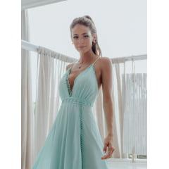 Vestido de Festa Longo Tiffany Guipir Madrinha, Convidada, Formanda.