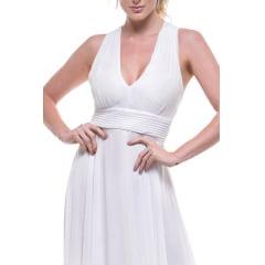 Vestido Casamento Civil  e Festas Costa Cruzada Branco