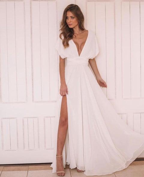 Vestido Casamento Civil Mil Formas Branco
